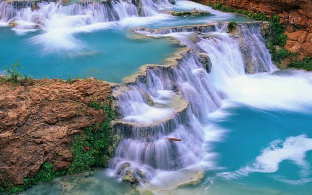 Las Cascadas Agua Azul en Palenque, Chiapas